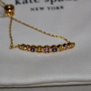 KATE SPADE FULL CIRCLE SLIDER BRACELET GOLD TONE